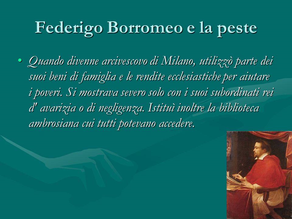 Federigo Borromeo e la peste