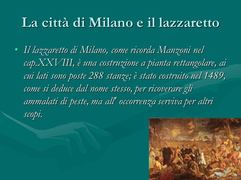 La città di Milano e il lazzaretto