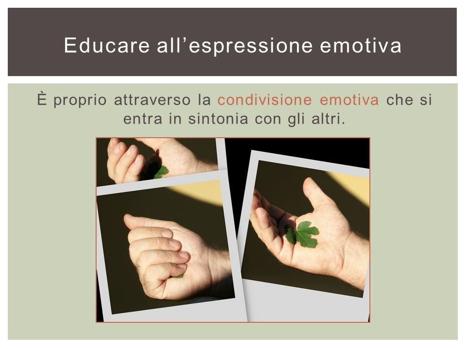 Educare all'espressione emotiva