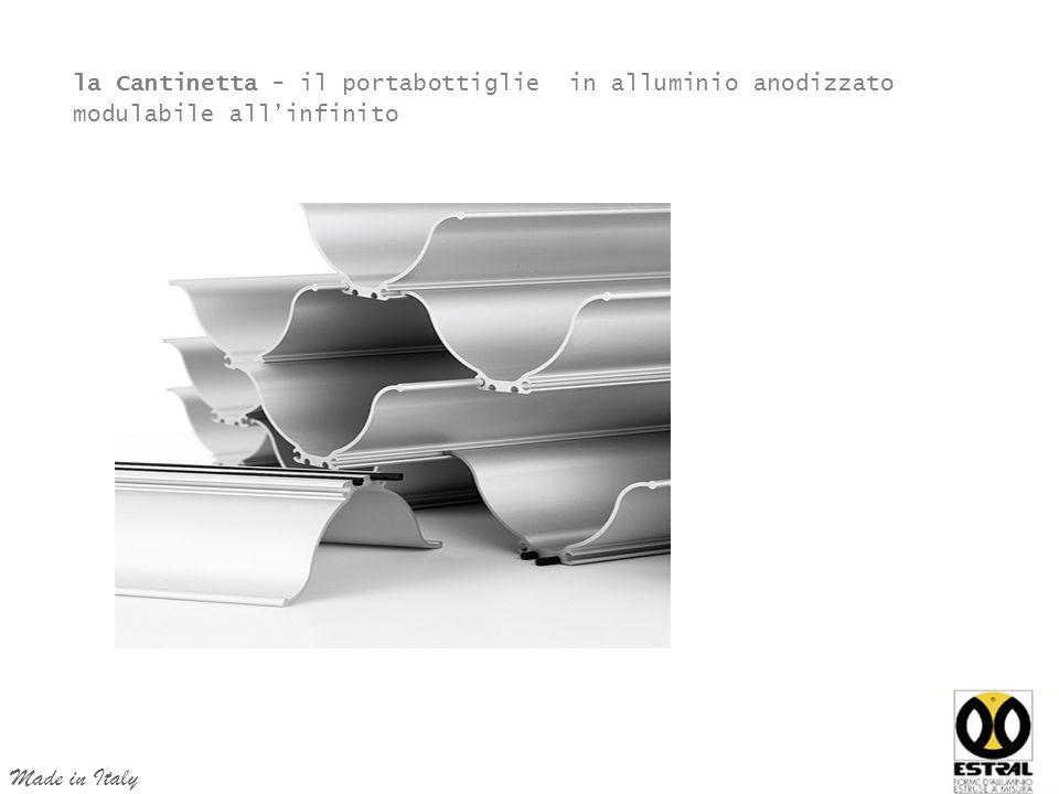 la Cantinetta - il portabottiglie in alluminio anodizzato modulabile all'infinito