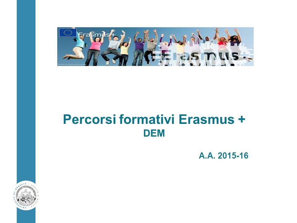 Percorsi formativi Erasmus +