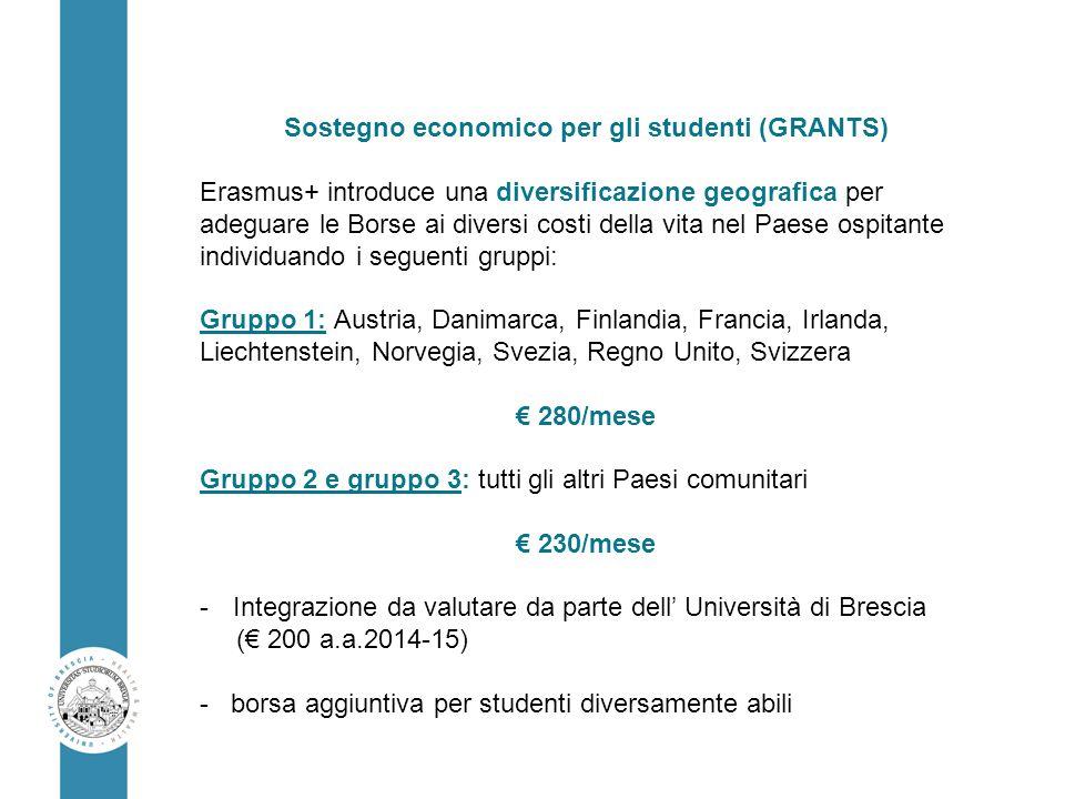 Sostegno economico per gli studenti (GRANTS)