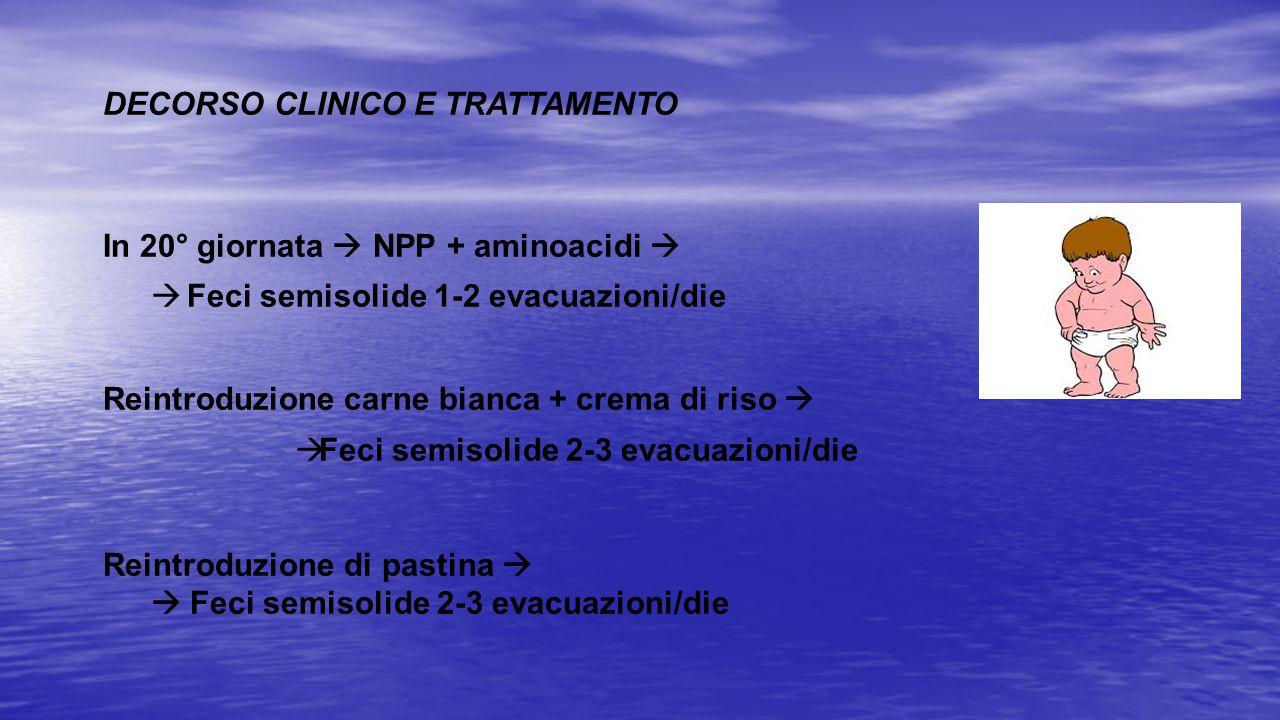 DECORSO CLINICO E TRATTAMENTO