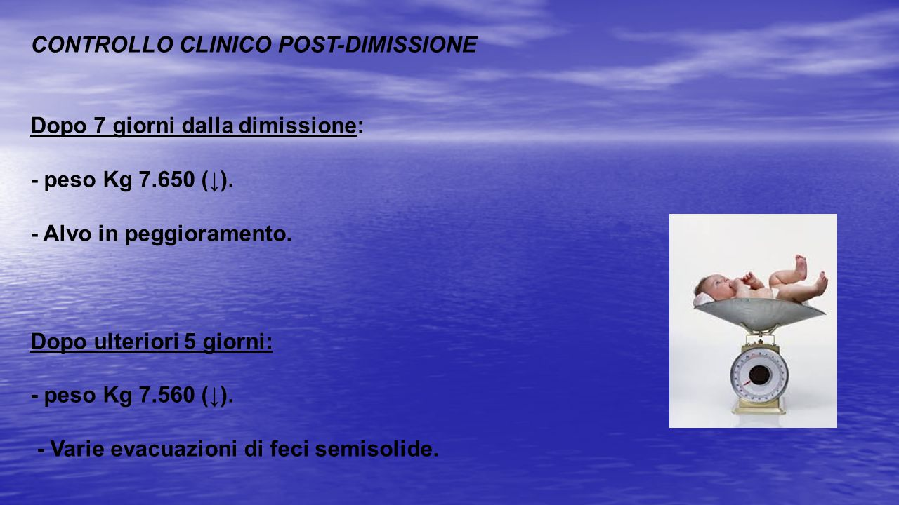 CONTROLLO CLINICO POST-DIMISSIONE