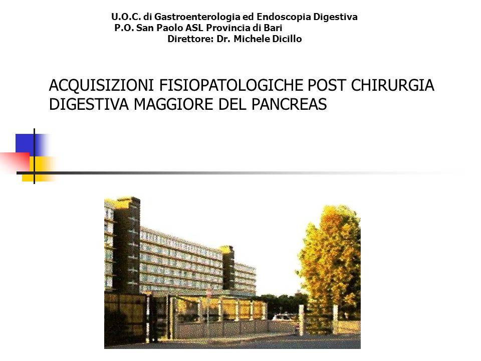 ACQUISIZIONI FISIOPATOLOGICHE POST CHIRURGIA