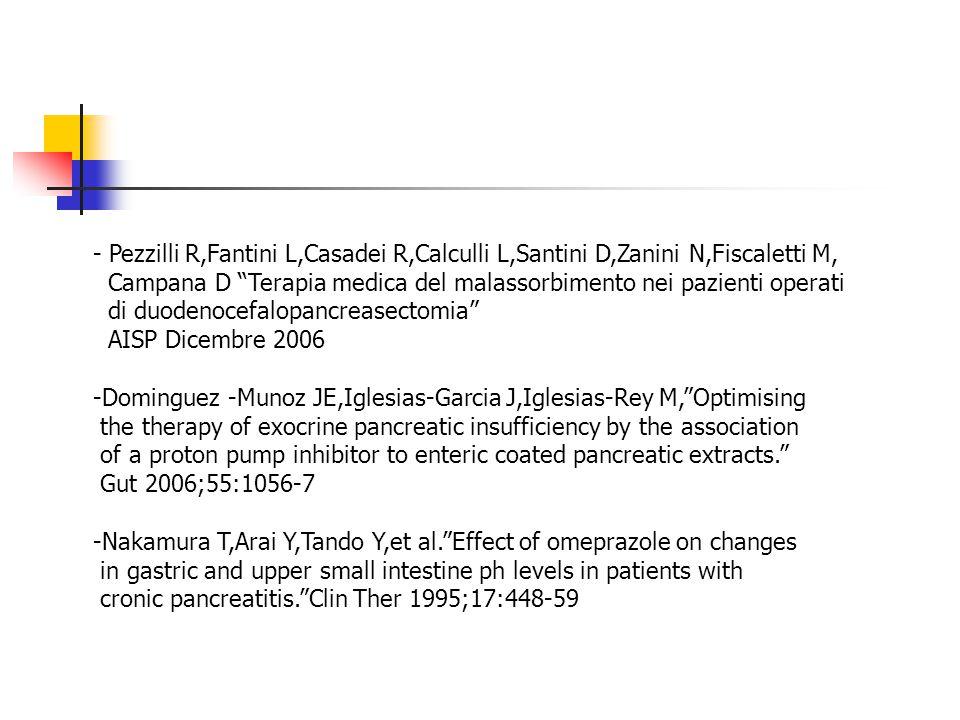 - Pezzilli R,Fantini L,Casadei R,Calculli L,Santini D,Zanini N,Fiscaletti M,