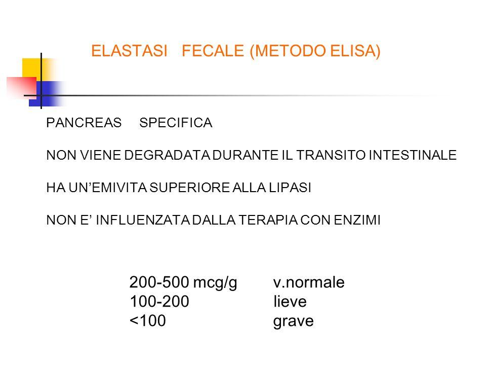 ELASTASI FECALE (METODO ELISA)