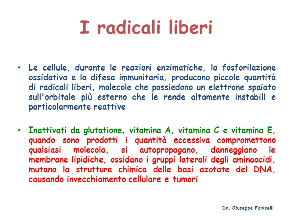 I radicali liberi