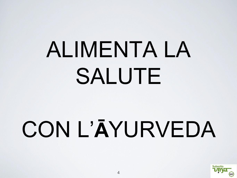 ALIMENTA LA SALUTE CON L'ĀYURVEDA