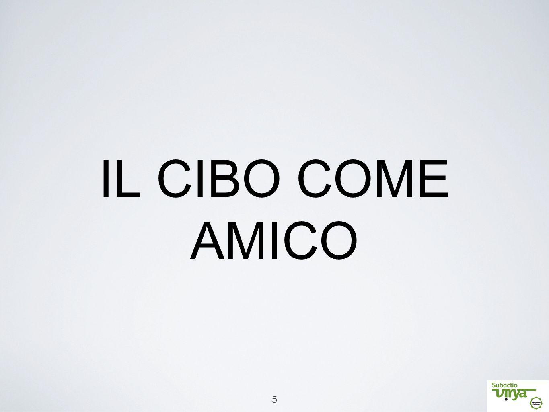 IL CIBO COME AMICO