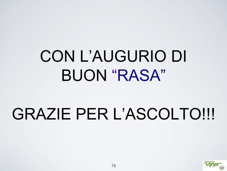 CON L'AUGURIO DI BUON RASA GRAZIE PER L'ASCOLTO!!!