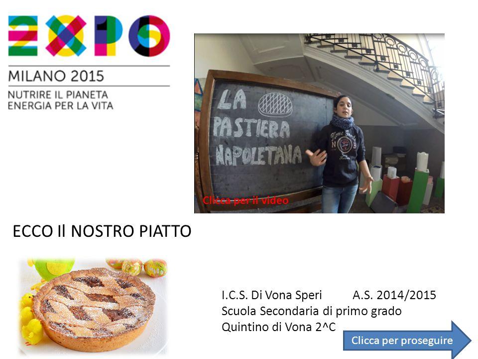 ECCO Il NOSTRO PIATTO I.C.S. Di Vona Speri A.S. 2014/2015
