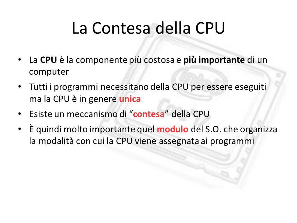 La Contesa della CPU La CPU è la componente più costosa e più importante di un computer.