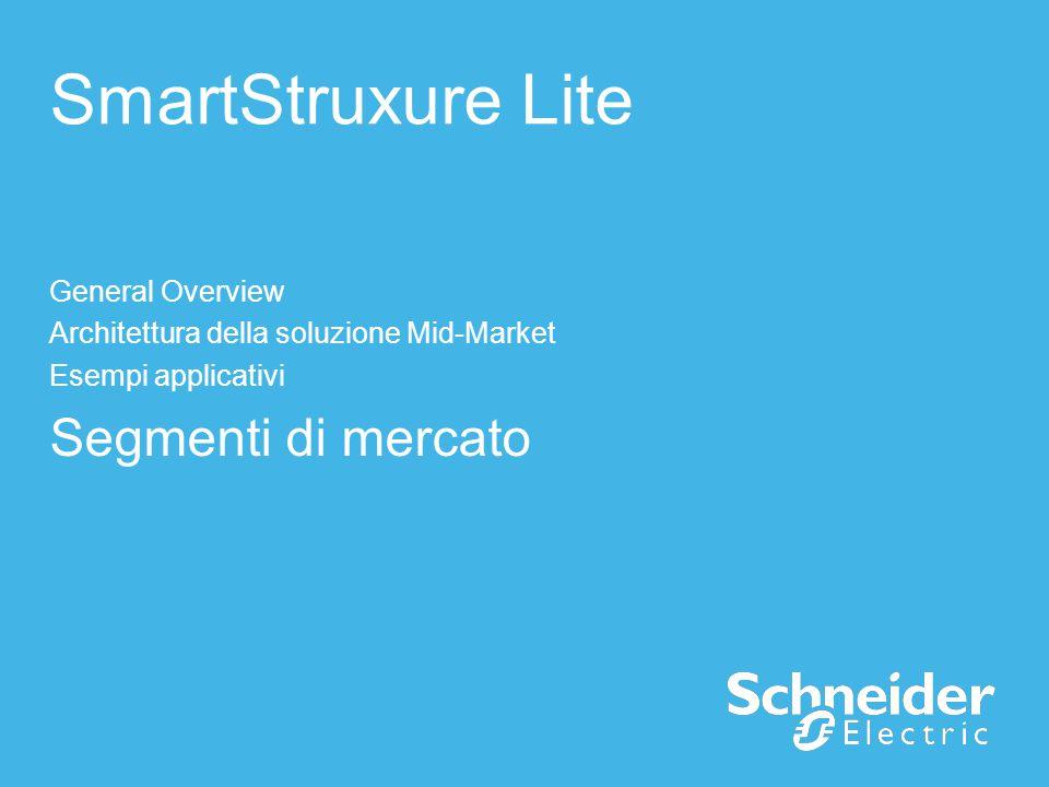 SmartStruxure Lite Segmenti di mercato General Overview