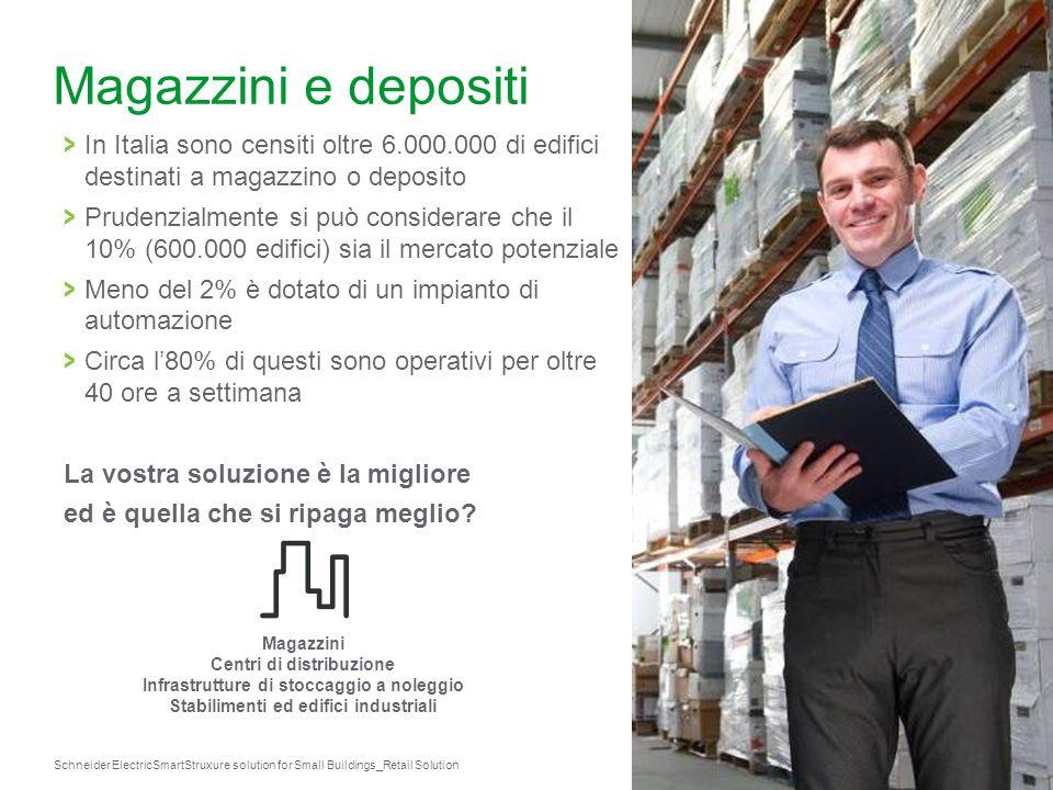 Magazzini e depositi In Italia sono censiti oltre 6.000.000 di edifici destinati a magazzino o deposito.