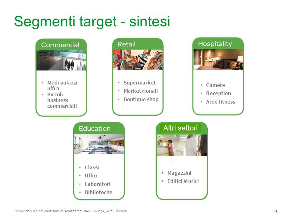 Segmenti target - sintesi
