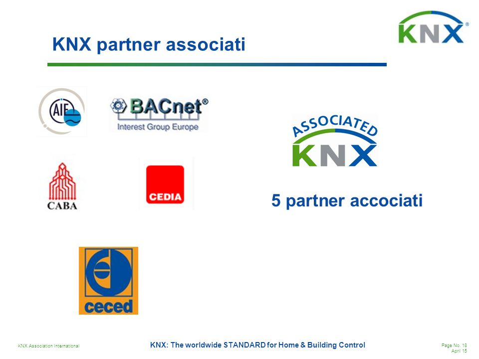 KNX partner associati 5 partner accociati