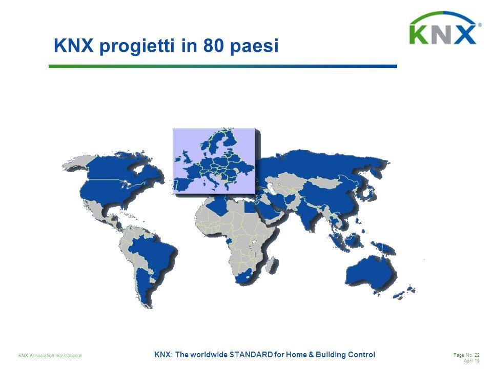 KNX progietti in 80 paesi