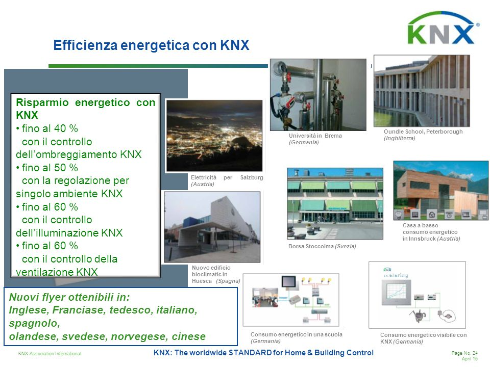 Efficienza energetica con KNX