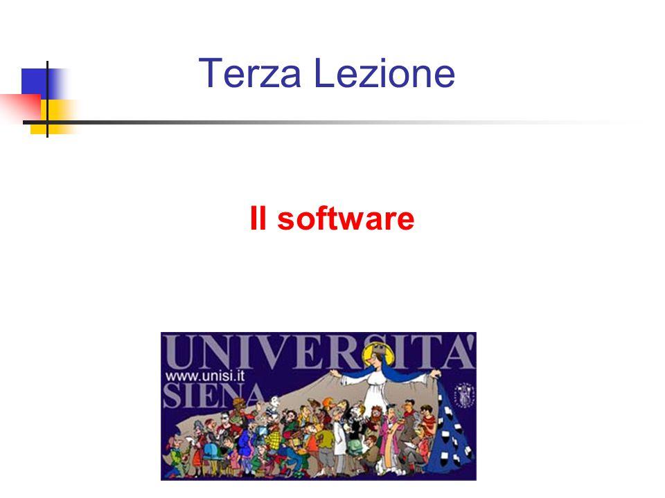 Terza Lezione Il software