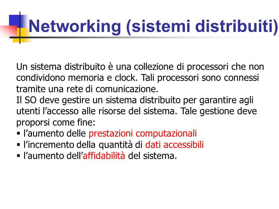 Networking (sistemi distribuiti)