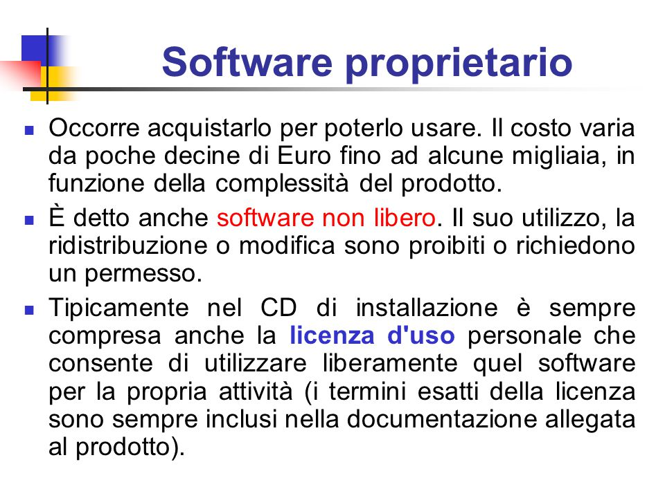 Software proprietario
