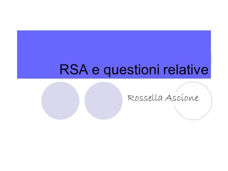RSA e questioni relative