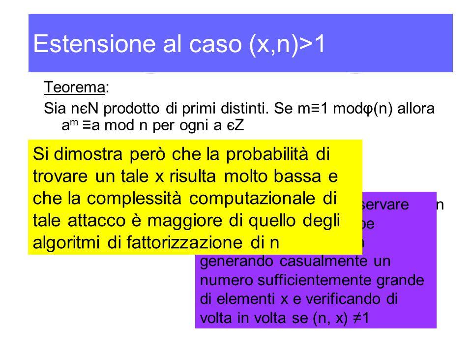 Estensione al caso (x,n)>1