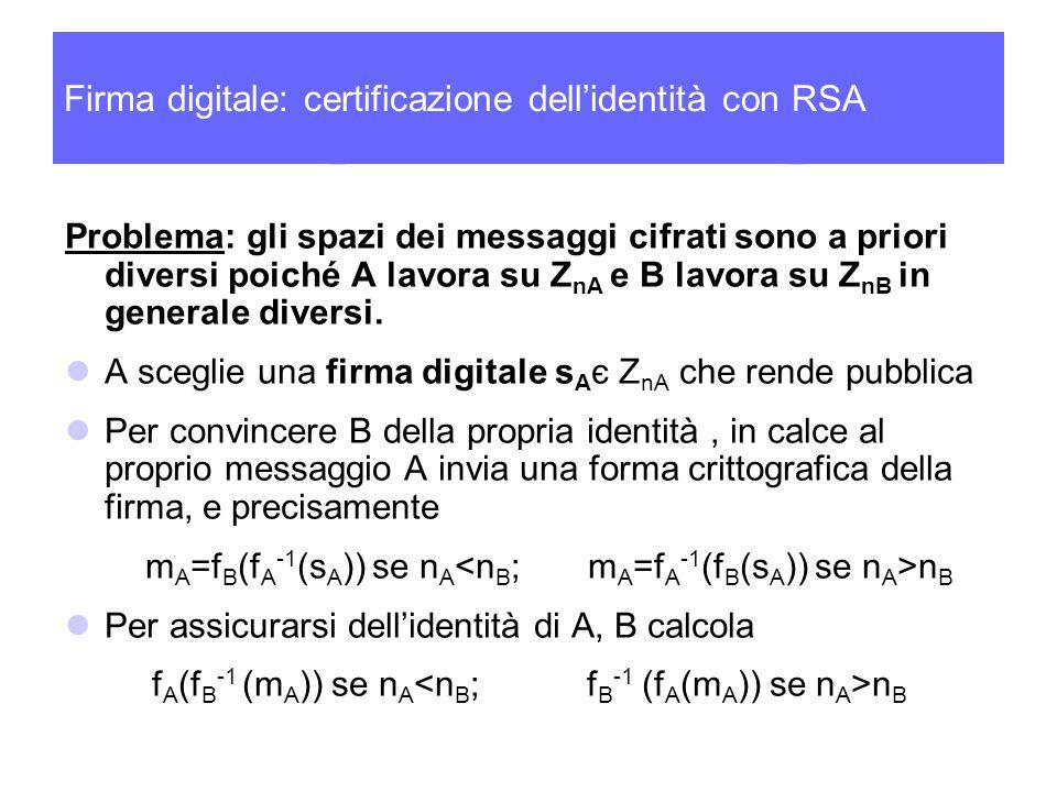 Firma digitale: certificazione dell'identità con RSA