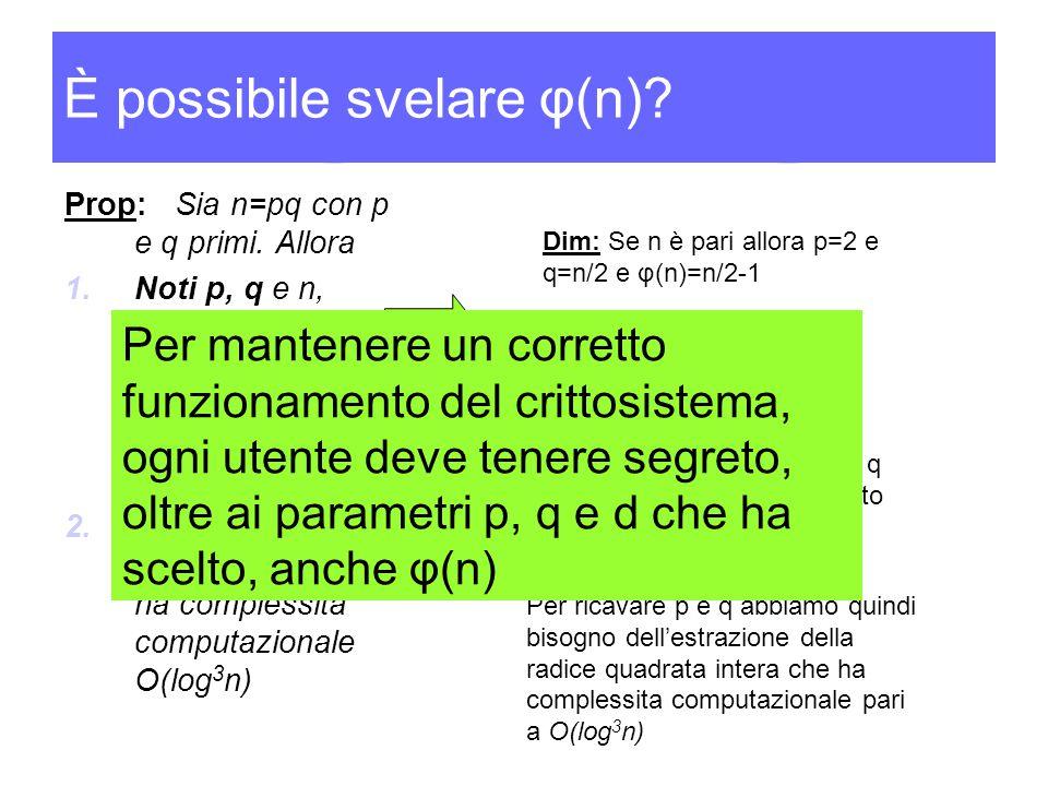 È possibile svelare φ(n)