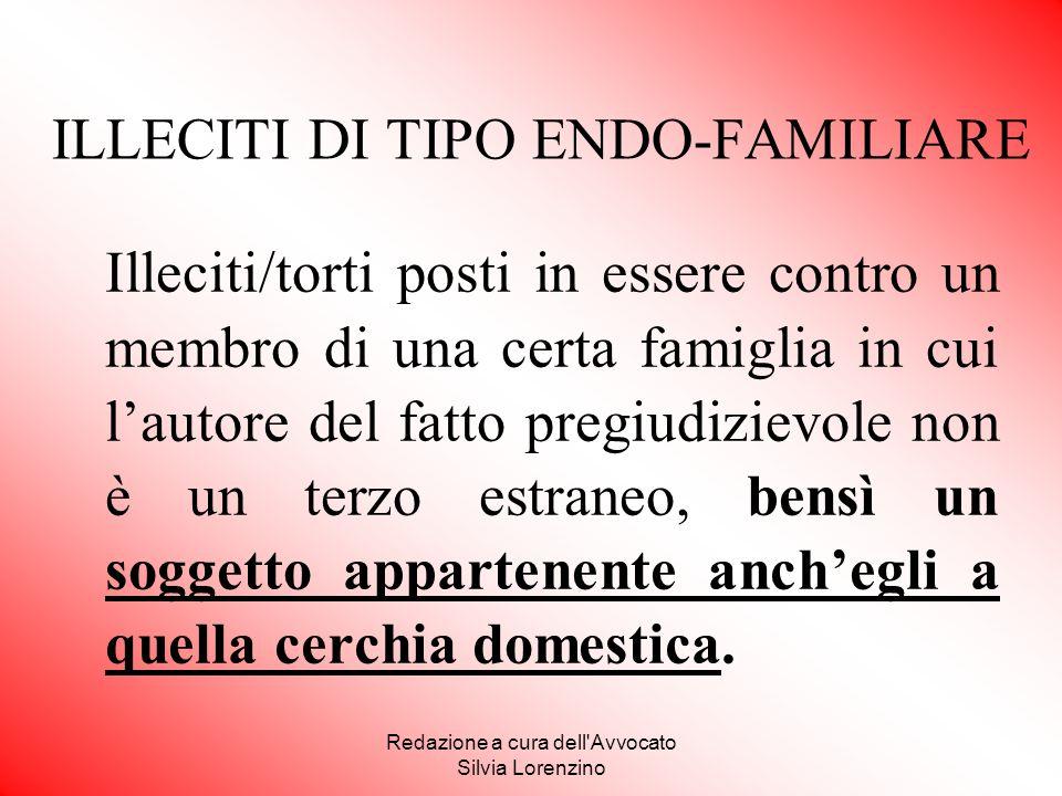 ILLECITI DI TIPO ENDO-FAMILIARE
