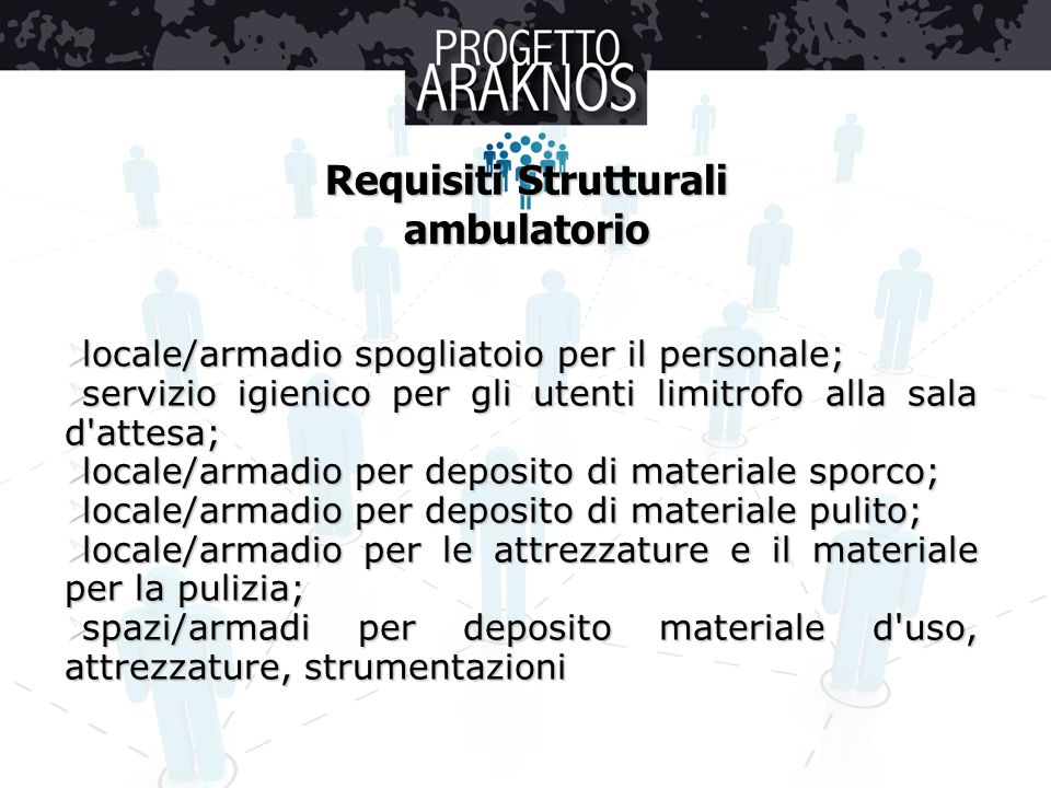 Requisiti Strutturali ambulatorio