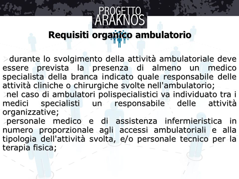 Requisiti organico ambulatorio