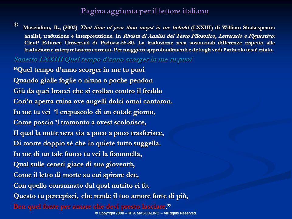 Pagina aggiunta per il lettore italiano