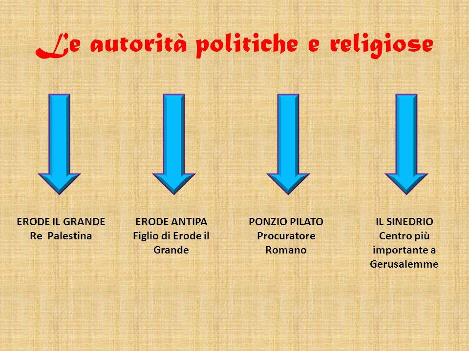 Le autorità politiche e religiose