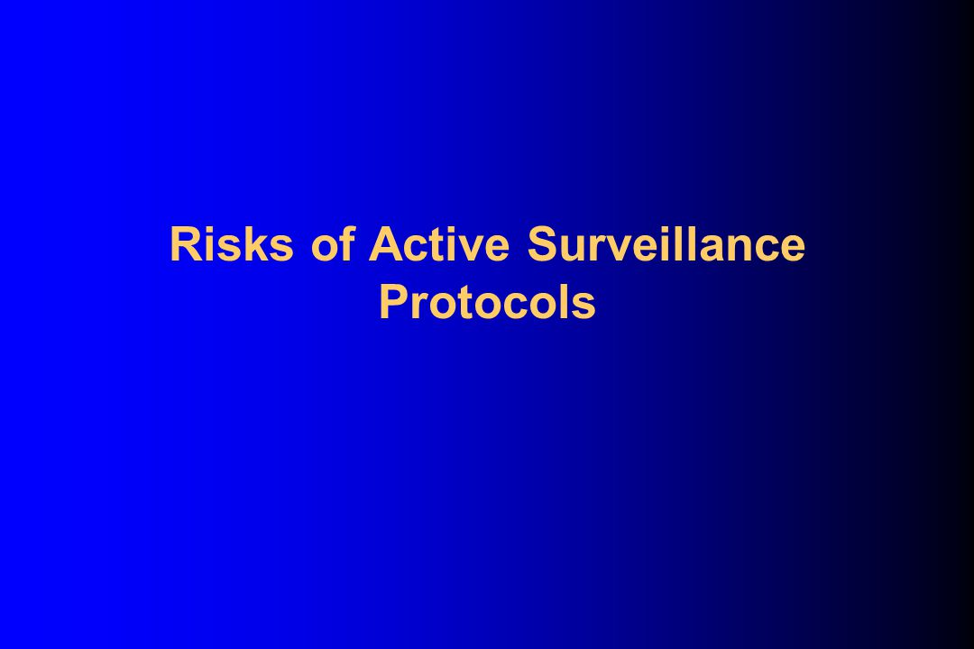 Risks of Active Surveillance Protocols