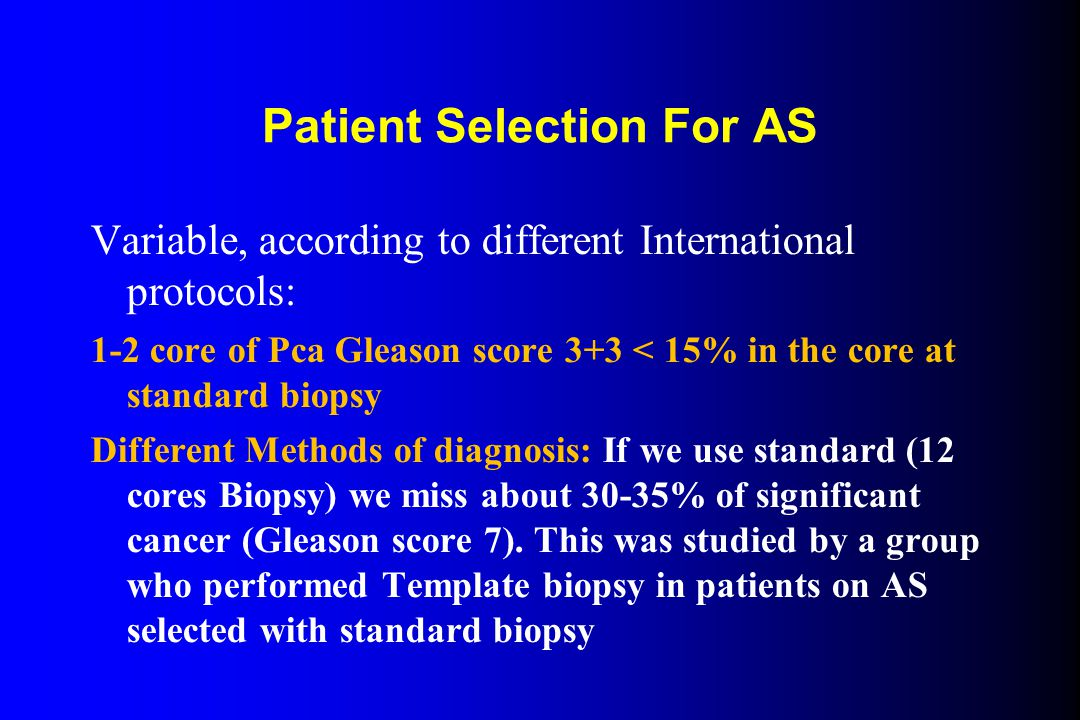 Patient Selection For AS