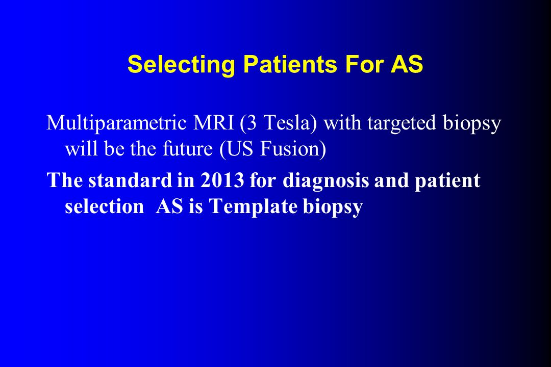 Selecting Patients For AS