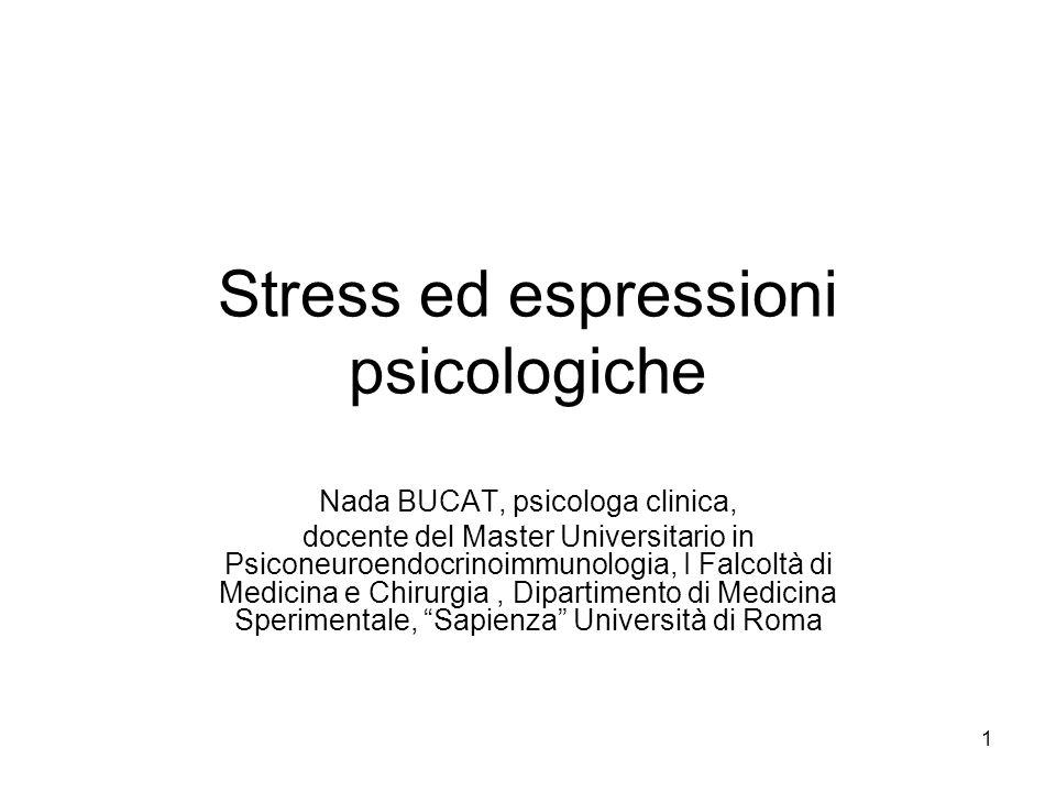 Stress ed espressioni psicologiche