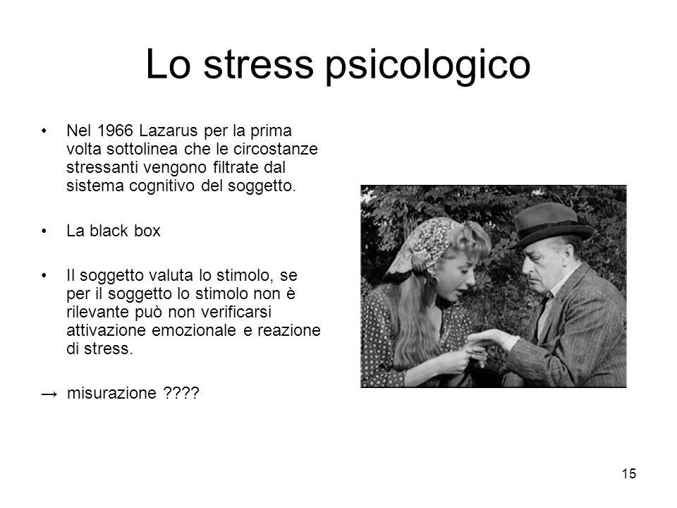 Lo stress psicologico