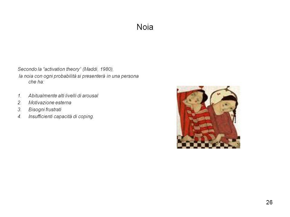 Noia Secondo la activation theory (Maddi, 1980),