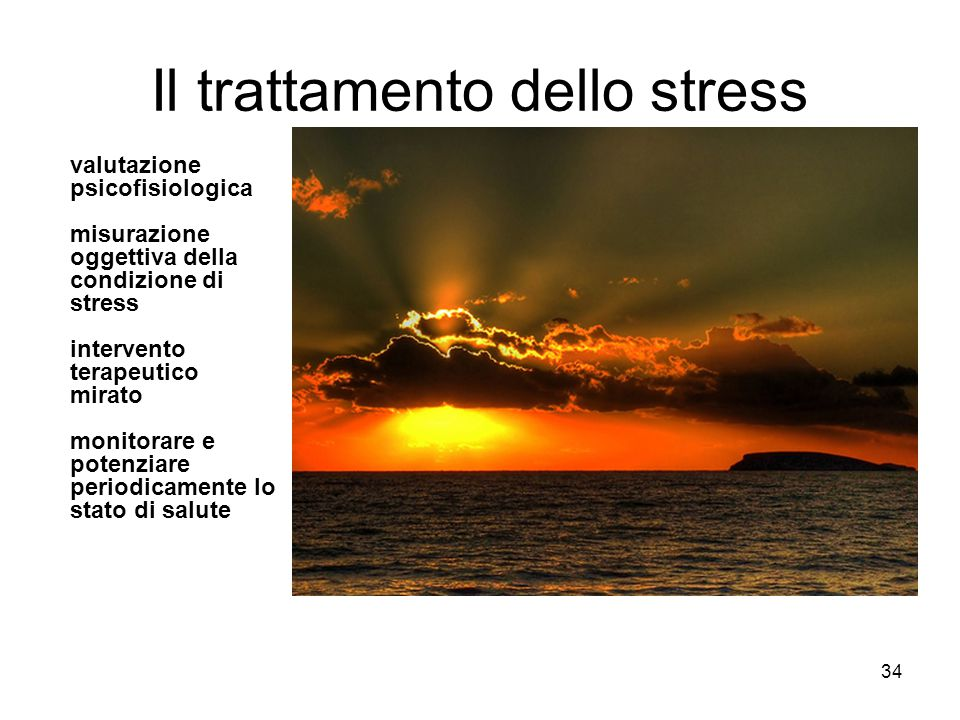 Il trattamento dello stress