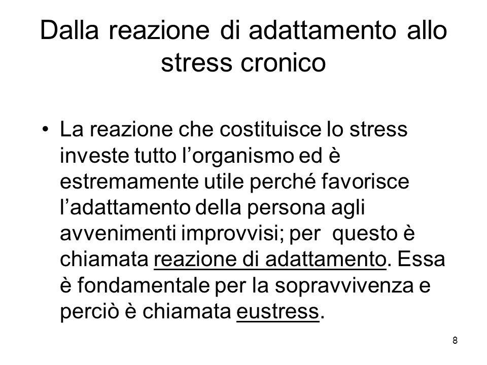 Dalla reazione di adattamento allo stress cronico