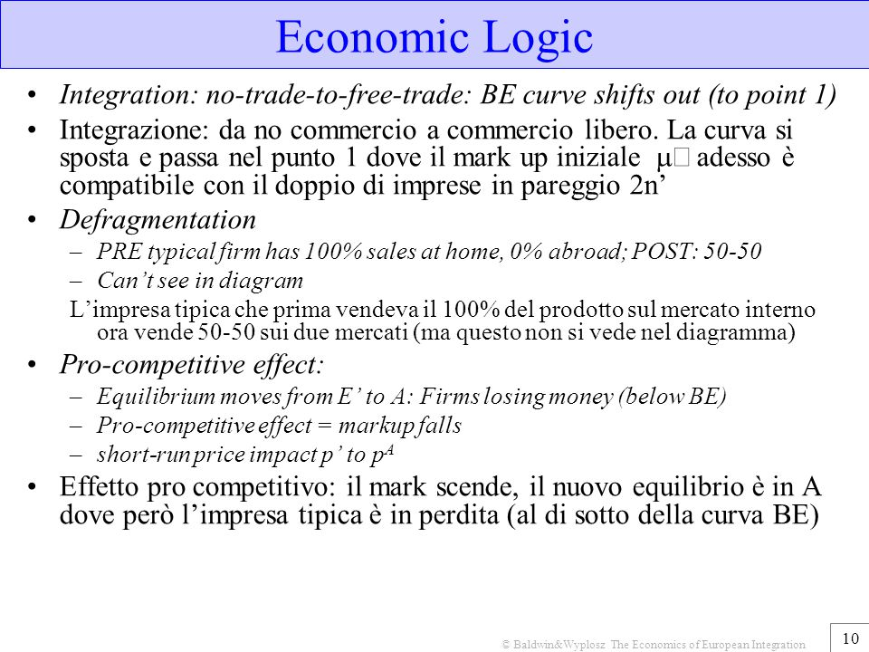 © Baldwin&Wyplosz The Economics of European Integration