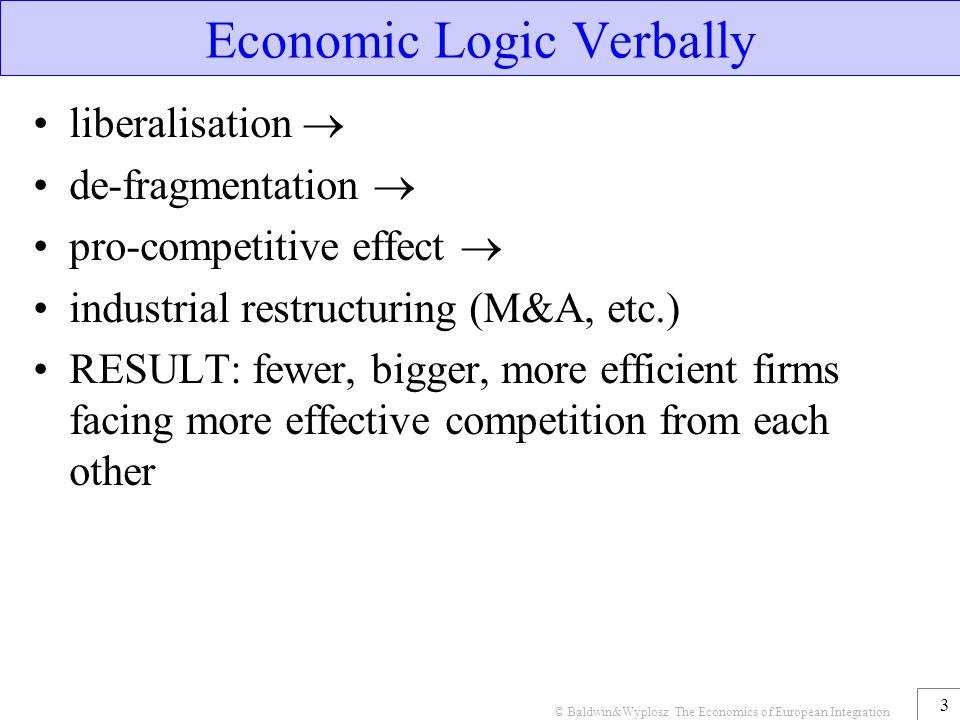 Economic Logic Verbally