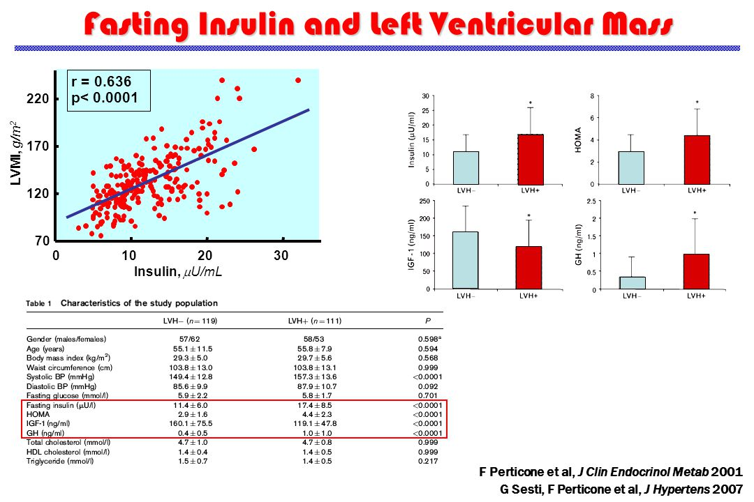 Fasting Insulin and Left Ventricular Mass