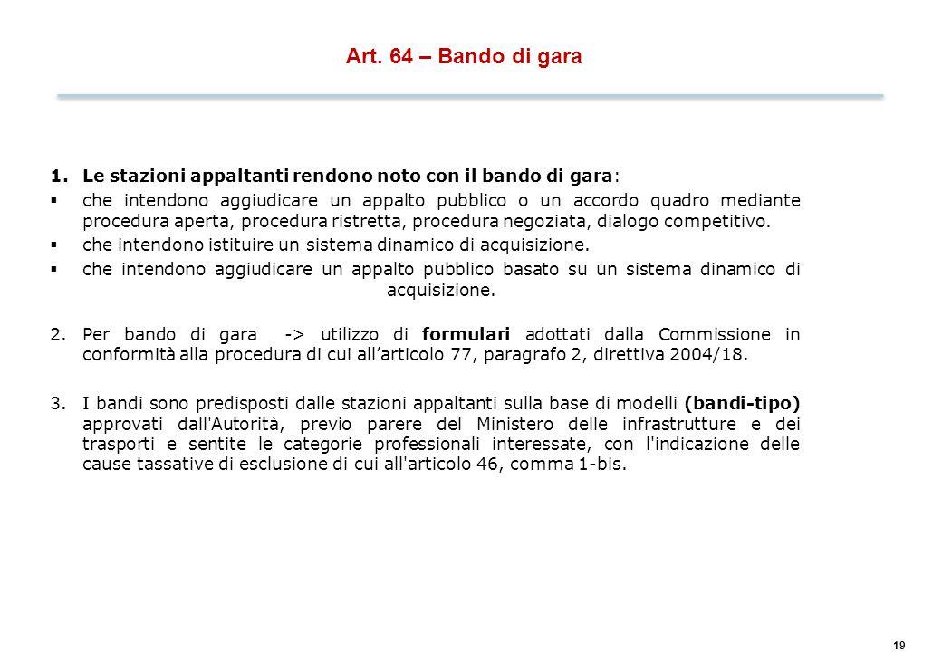 Art. 67 – Inviti a presentare offerte, a partecipare al dialogo competitivo, a negoziare