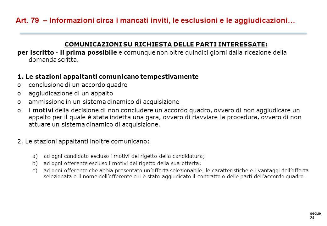 COMUNICAZIONI D'UFFICIO