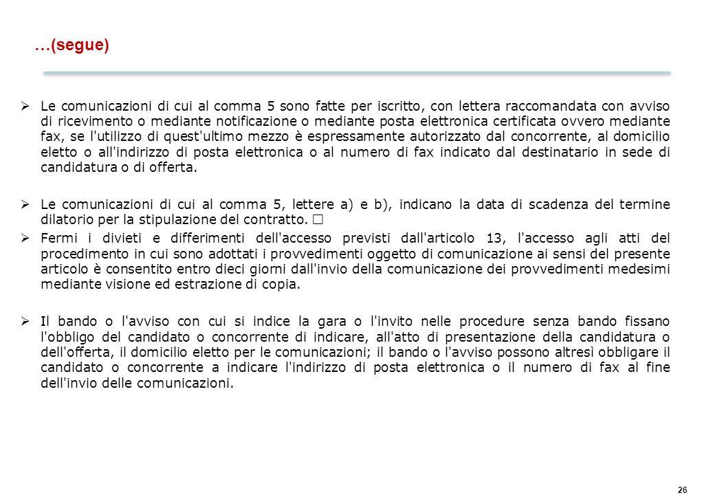 Art. 35 e 36 – Requisiti per la partecipazione alle gare dei consorzi
