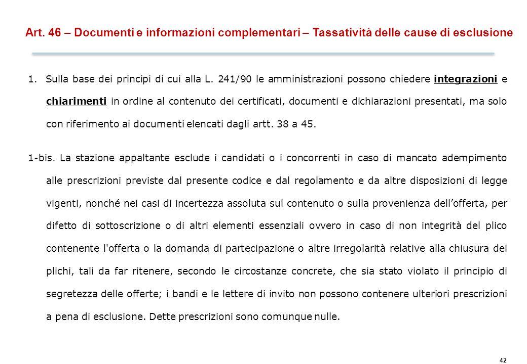 Art. 48 – Controlli sul possesso dei requisiti (verifica a campione)